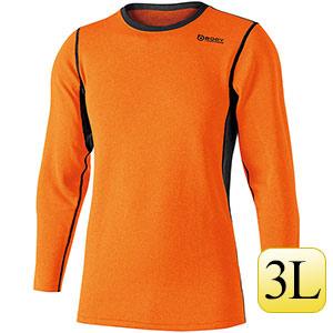 ヘビーウェイト クルーネックシャツ JW−180  オレンジ×ブラック3L