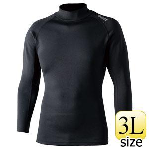 BTヒートブースト ヘビーウェイトハイネックシャツ JW−186 ブラック 3L