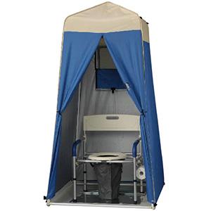 マンホールトイレ 洋式タイプ VE100W テント(Sサイズ)付