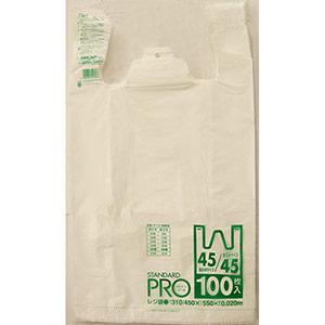 ゴミ袋 Y−8H 45/45号 白 (100枚×10冊)