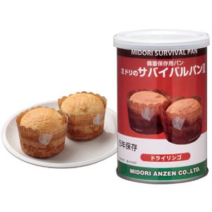 非常食 ミドリのサバイバルパン�U ドライリンゴ味 (販売単位:24缶)