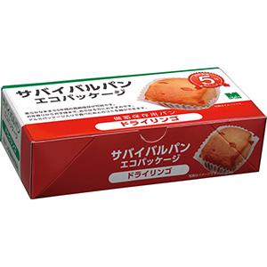 サバイバルパン エコパッケージ ドライリンゴ 2個入×24箱/ケース