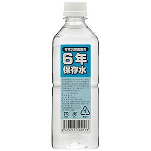 6年保存水 500ミリリットル 24本入