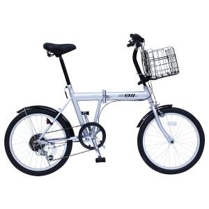 ノーパンク自転車 折畳 MG−G206N−SL