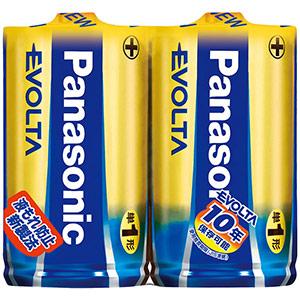 エボルタ アルカリ乾電池 単1 2本/組 LR20EJ/2SE