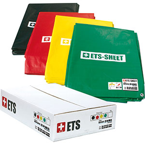 ETS−SHEET トリアージシート 黒赤黄緑各1枚入セット