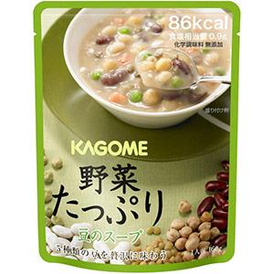 カゴメ 野菜たっぷりスープ 豆のスープ 160GX30袋