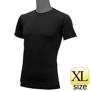 フリーズテックライフスタイル インナーシャツ 半袖クルーネック ブラック XL