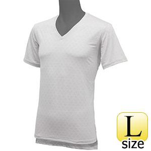 フリーズテックライフスタイル インナーシャツ 半袖Vネック ホワイト L