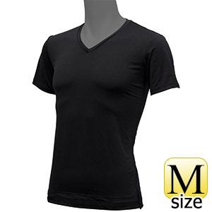 フリーズテックライフスタイル インナーシャツ 半袖Vネック ブラック M