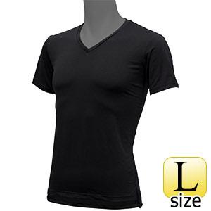フリーズテックライフスタイル インナーシャツ 半袖Vネック ブラック L