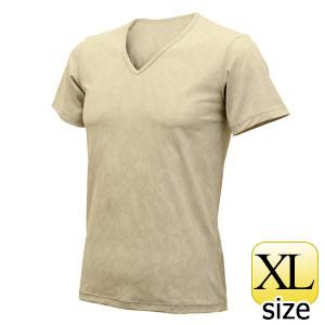 フリーズテック ライフスタイル 半袖VネックメッシュTシャツ ベージュ XL