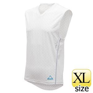 フリーズテック パフォーマンス ノースリーブ Vネック ホワイト XL