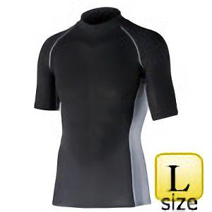 半袖ハイネックシャツ JW−624 L ブラック
