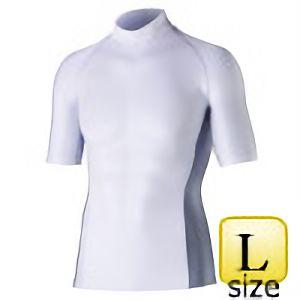 半袖ハイネックシャツ JW−624 L ホワイト
