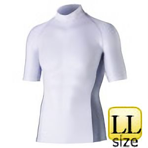 半袖ハイネックシャツ JW−624 LL ホワイト