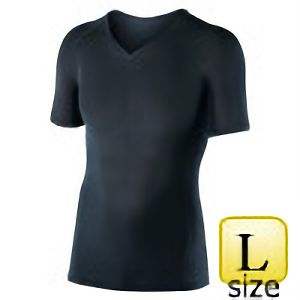 半袖Vネックシャツ JW−622 L ブラック