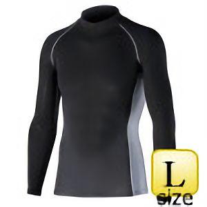長袖ハイネックシャツ JW−625 L ブラック