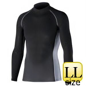 長袖ハイネックシャツ JW−625 LL ブラック
