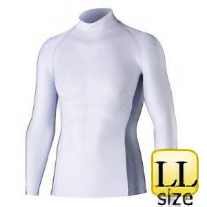 長袖ハイネックシャツ JW−625 LL ホワイト