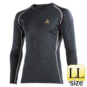 BTパワーストレッチ ロングスリーブシャツ JW−643 ブラックカモフラ LL
