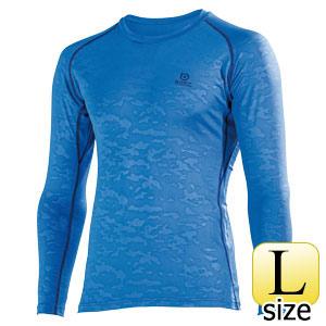 BTパワーストレッチ ロングスリーブシャツ JW−643 ブルーカモフラ L