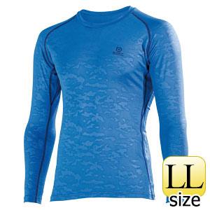 BTパワーストレッチ ロングスリーブシャツ JW−643 ブルーカモフラ LL