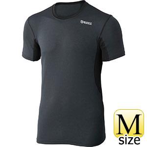 BTデュアルメッシュショートスリーブ クルーネックシャツ グレー×ブラック M