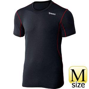 BTデュアルメッシュショートスリーブ クルーネックシャツ ブラック×レッド M