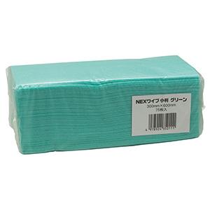 カウンタークロス NEX(ネックス)ワイプ 小判 グリーン 75枚×12箱入
