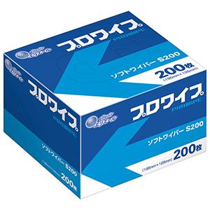 ワイパー プロワイプ ソフトワイパーS200 BOX 200枚×72箱入り