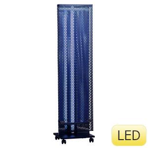 縦型捕虫器 捕虫ポールW ワイド LED ブラック