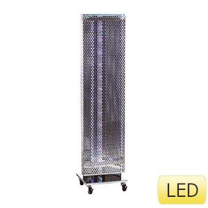縦型捕虫器 捕虫ポールW ワイド LED ステンレス