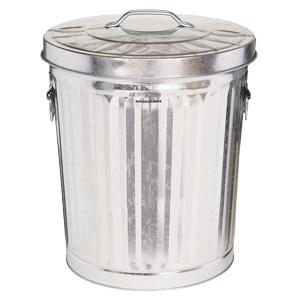 蓋付ペール缶 33L シルバー 367−0335