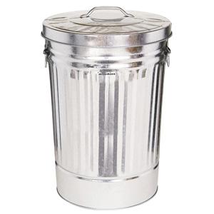 蓋付ペール缶 42L シルバー 367−0425