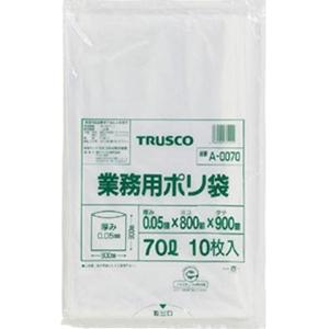 TRUSCO 業務用ポリ袋0.05×70L A0070 8539
