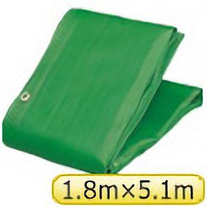 TRUSCO ソフトメッシュαシート 1.8m×5.1m 緑 GM1851A 3100GN