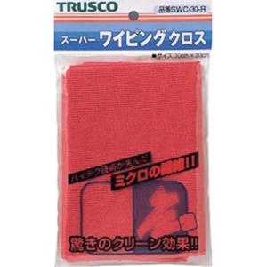 TRUSCO スーパーワイピングクロス300mm×300mm赤 SWC30 8539R