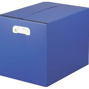 TRUSCO ダンプラケース5mm厚:436×313×330 ダークブルー TDPA3D 8000DB