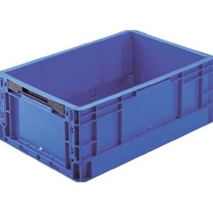 TRUSCO TPO型 折りたたみコンテナ:503×335×195 暗青 TPO342 8000DB