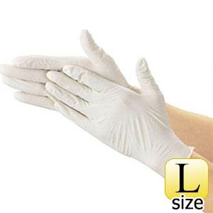 TRUSCO 使い捨て極薄手袋(天然ゴムパウダーフリー)100枚入 L 白 TGL493L 8539