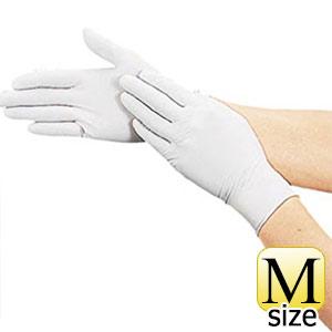 TRUSCO 使い捨て極薄手袋ニトリル製粉付き100枚Mホワイト DPM6981NM 8539