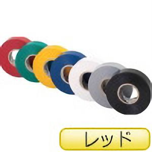 TRUSCO 耐熱・難燃・耐寒 プレミアム ビニールテープ レッド TMPM1920R 3100