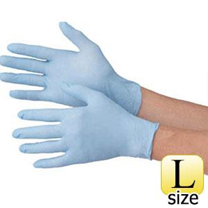 TRUSCO 使い捨て極薄手袋ニトリル製粉無し100枚Lブルー TGL726NL 8539