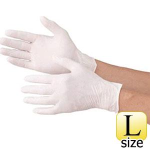 TRUSCO 使い捨て極薄手袋ニトリル製粉無し100枚Lホワイト TGL746NL 8539