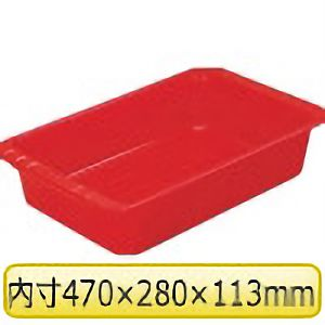 TRUSCO パーツBOX深型 有効内寸470X280X113 レッド K2 4600R