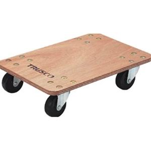 TRUSCO 合板平台車プティカルゴ300x450ゴム車輪 PC3045G 8000