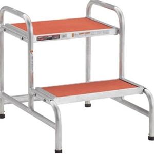 TRUSCO アルミ製作業用踏台 アジャスター付 AFA2 8000