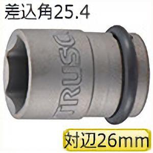 TRUSCO インパクト用ソケット(差込角25.4)対辺26mm T826A 3100