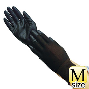 TRUSCO 極薄ニトリル背抜き手袋 ブラック M TGL2595BKM 8539